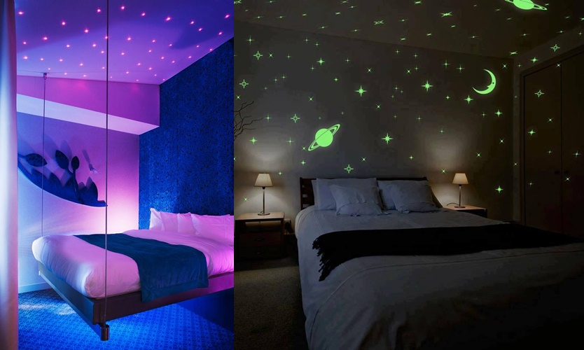 9 Inspirasi kamar bertema milky way, serasa tidur di bawah bintang