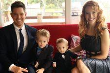 Masih berusia tiga tahun, anak penyanyi Michael Buble terkena kanker