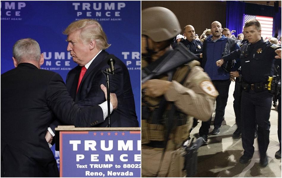Anti-Trump bersenjata diduga menyusup, Trump diamankan saat kampanye