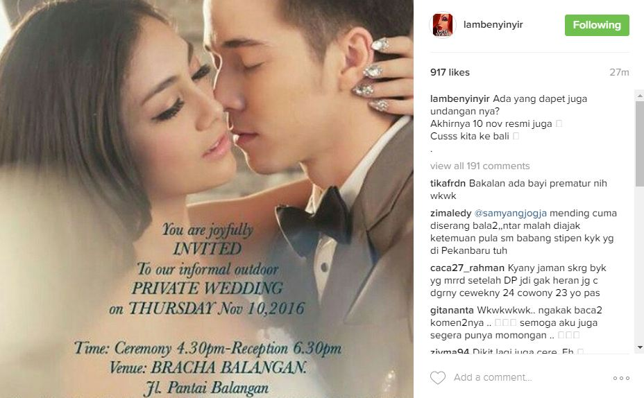 Beredar kabar Stefan-Celine akan nikah 10 November di Bali, benarkah?
