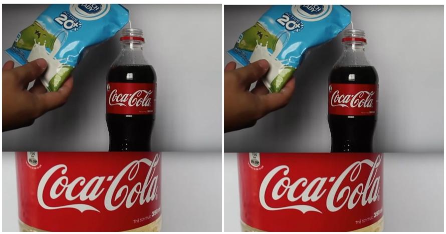 Ini yang terjadi kalau Cola dicampur susu lalu didiamkan beberapa jam