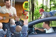Bayi ini jadi 'korban' Photoshop sang ayah, 12 foto ini lucu banget