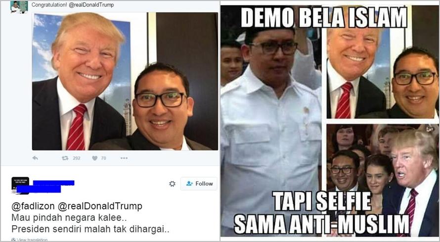 Ucapkan selamat ke Donald Trump, Fadli Zon kena bully netizen
