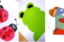 15 Ide untuk anak bikin kerajinan kertas bentuk hewan lucu, mudah lho