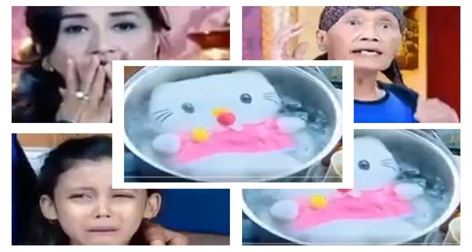 Netizen heboh adegan boneka Hello Kitty direbus di sinetron, kocak