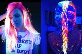 Tren rambut glow in the dark ini menjadi hype, keren banget