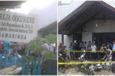 Penuh jemaat ibadah, Gereja Oikumene Samarinda dibom molotov, duh