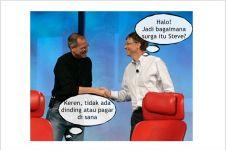 Obrolan Steve Jobs & Bill Gates tentang kondisi 'surga' ini kocak abis