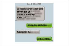 7 Chat yang ditujukan tukang tikung pacar ini lucu banget