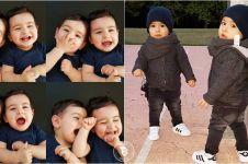 13 Potret Agit dan Sidar, si kembar yang jadi idola baru di Instagram