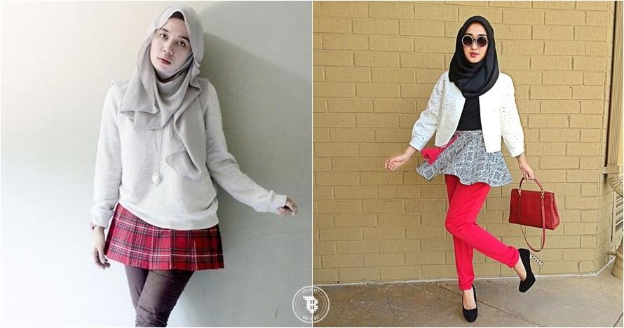 15 Padu Padan Rok Mini Untuk Hijaber Bisa Dicoba Nih