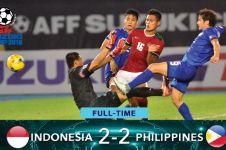 Sempat bikin 2 gol, Timnas Indonesia malah ditahan imbang Filipina