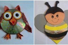 14 Ide bikin mainan cantik dari CD bekas, balita & anak pasti suka