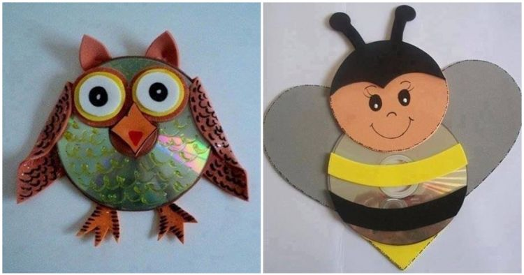 14 Ide Bikin Mainan Cantik Dari Cd Bekas Balita Anak P