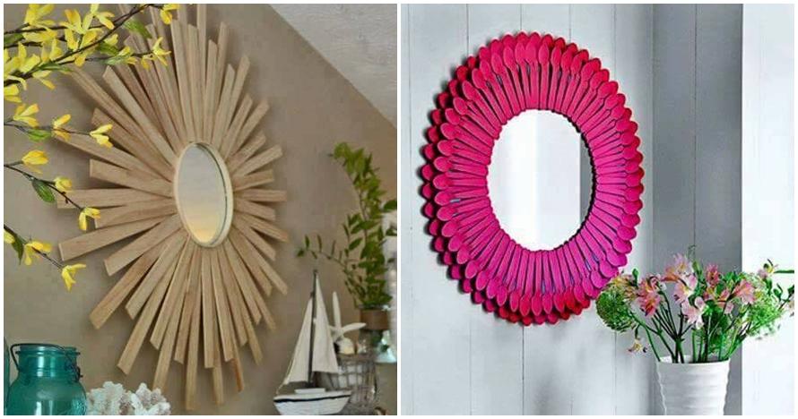 15 Inspirasi bikin bingkai cermin sesukamu di rumah, biar makin meriah