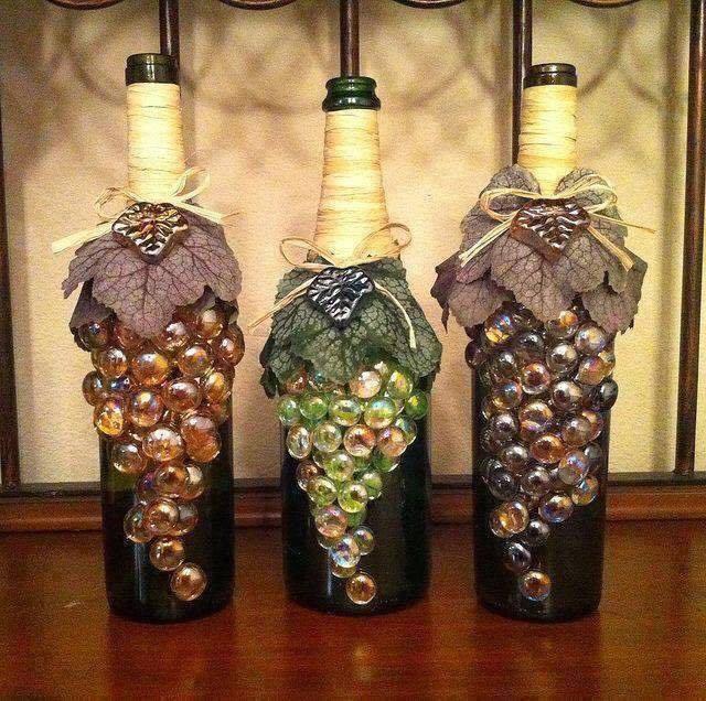 Вазы из винных бутылок своими руками фото - Theform1.ru
