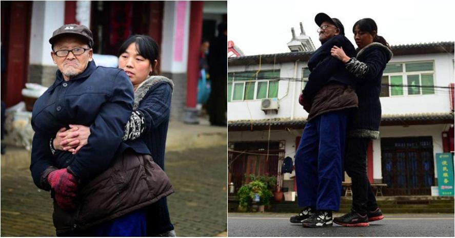 Kisah bakti anak 'jadi kaki' untuk ayahnya yang lumpuh ini bikin haru
