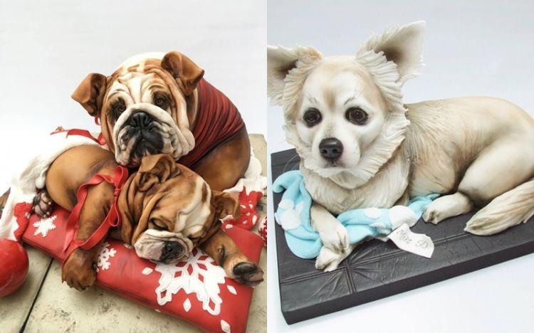 12 Kue ulang tahun bentuk anjing ini unik, bikin nggak tega makan nih