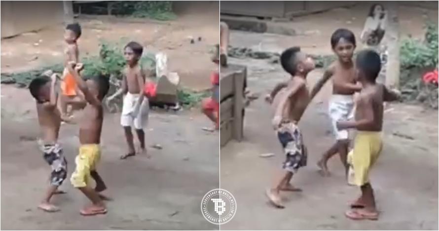 Aksi bocah telanjang dada lagi joget ini viral dan tuai pujian netizen
