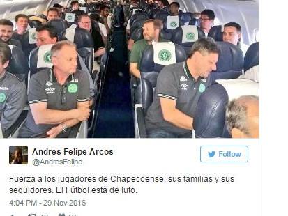 Media Brasil kabarkan 3 pemain Chapecoense selamat dari pesawat jatuh