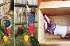 14 Aksi kreatif orangtua hadapi tingkah anak, 'leh uga' nih ditiru