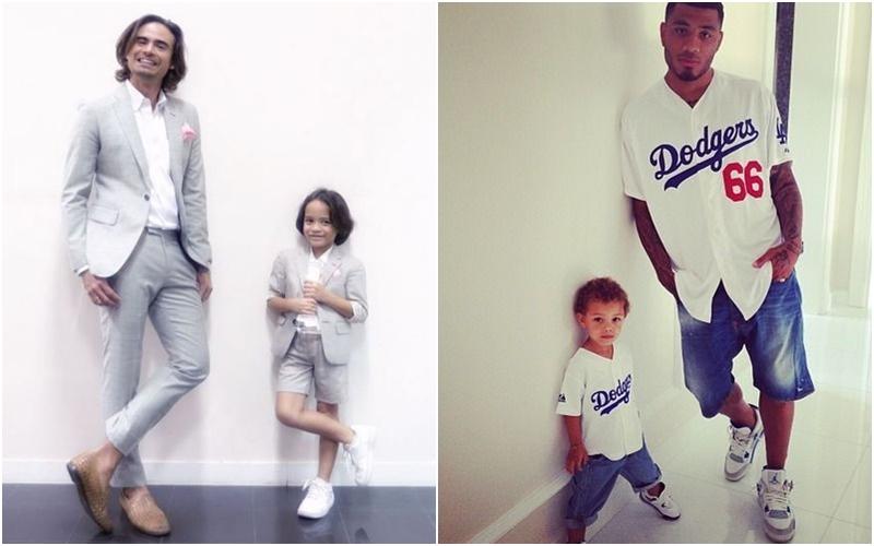 15 Foto kembaran baju ayah dan anak laki-lakinya ini kompak banget