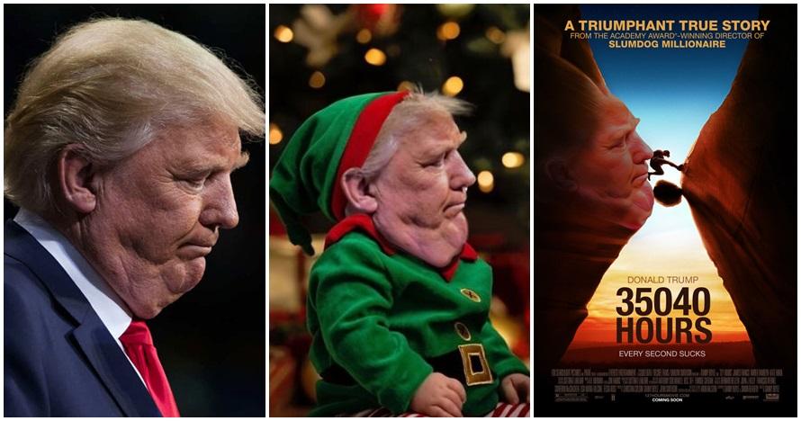 10 Foto editan lipatan dagu milik Donald Trump ini bikin ketawa