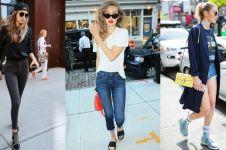 12 Gaya fashion street ala Gigi Hadid ini bisa kamu tiru, kece abis