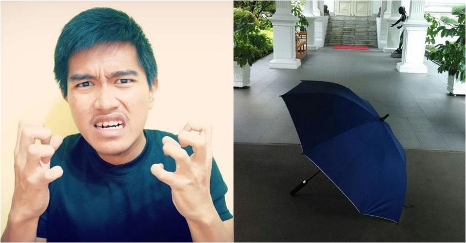 Postingan Kaesang soal 'payung biru' Jokowi ini bikin netizen berdebat