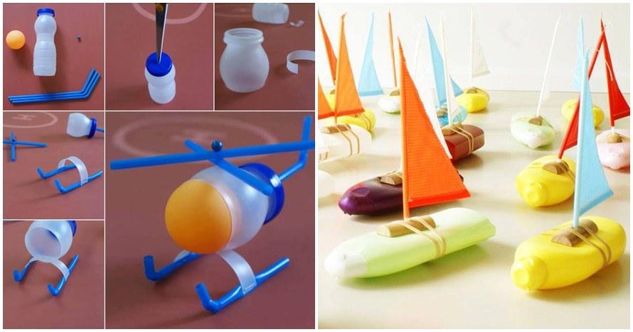 11 Ide bikin mainan dari ragam botol bekas, kamu bisa bikin?