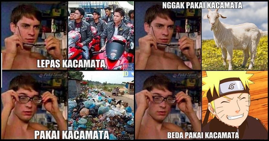 10 Meme 'beda pakai kacamata' ini nggak cuma lucu, tapi juga nyelekit
