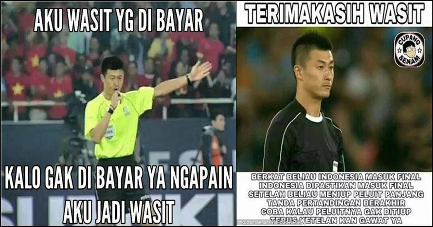 10 Meme wasit kontroversial Vietnam vs Indonesia ini lucu-lucu nyindir