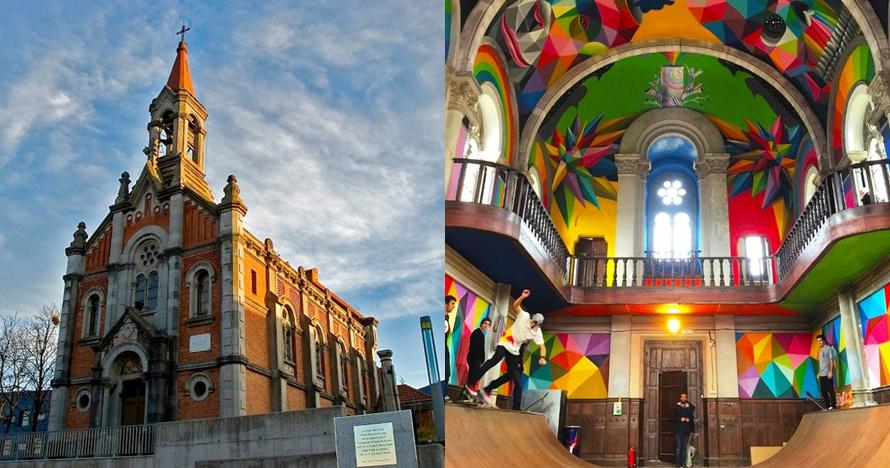 Gereja tua berusia 100 tahun ini diubah jadi skate park, kreatif abis