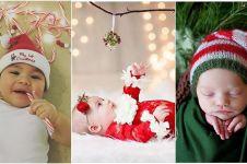 21 Potret bayi menyambut Natal untuk kali pertama, imut dan lucu abis