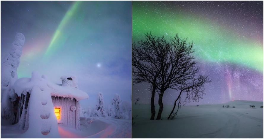 12 Foto indahnya musim dingin bertabur cahaya di Finlandia, keren abis