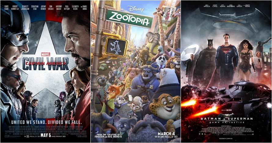 Ini dia 10 film Box Office yang raih pendapatan terbanyak di 2016