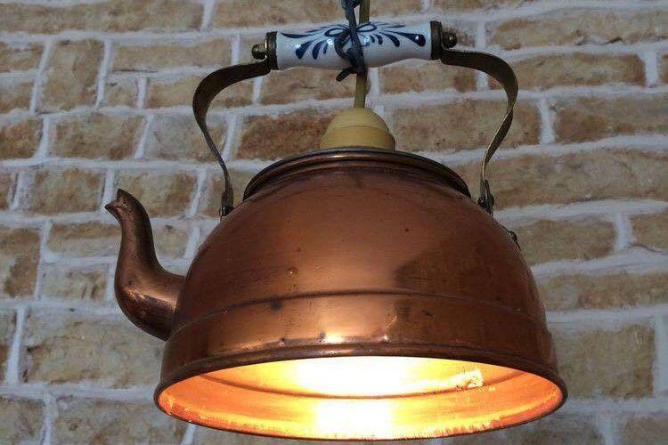 25 Model kap lampu cantik dari perkakas bekas, kamu bisa bikin lho