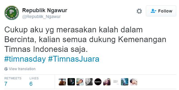 10 Cuitan lucu netizen saksikan tegangnya Indonesia lawan Thailand