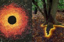 Seniman ini pakai bahan alami untuk ciptakan 10 karya seni super keren