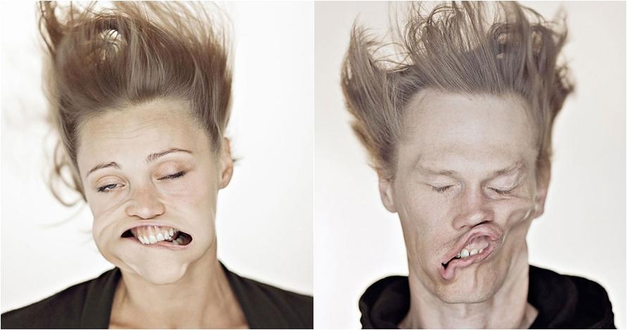 Potret wajah 15 orang yang disemprot angin ini jadinya kocak abis