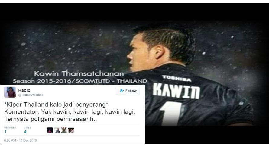 10 Tweet lucu netizen tentang nama kiper Thailand ini kocaknya pol..