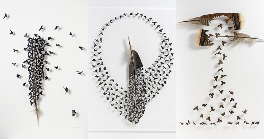 12 Karya seni dari bulu burung ini indahnya bukan main
