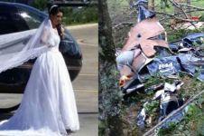 Mau bikin kejutan, pengantin wanita ini justru tewas dalam kecelakaan