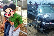 Tingkah bocah SMP kemudikan mobil berujung kecelakaan ini bikin miris
