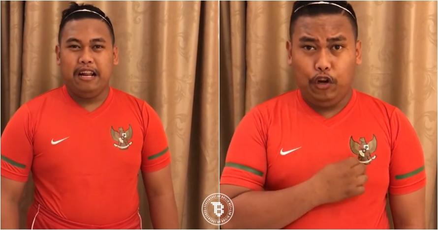 Ini bentuk dukungan Ajudan Pribadi untuk Timnas Indonesia, kocak abis