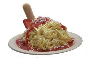 Spageti ini terbuat dari gelato, inovatif banget ya?