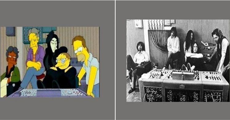 9 Foto saat kartun The Simpsons mengulang peristiwa bersejarah