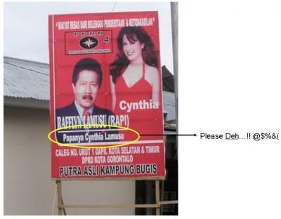 spanduk kampanye politik unik dan nyeleneh ini bikin geleng-geleng © 2016 berbagai sumber
