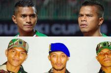 Gaya pemain timnas Manahati & Abduh saat berseragam TNI, gagah banget!