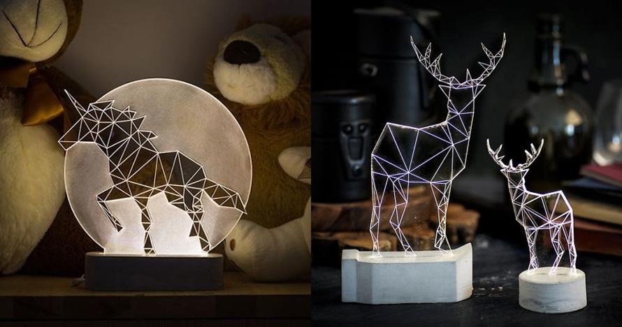 10 Lampu geometrik karya pria ini kerennya kebangetan, bikin terpana